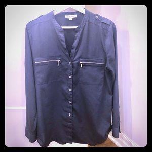 Calvin Klein Tops - 🚨2/$20🚨Calvin Klein Navy blouse